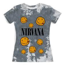 """Футболка с полной запечаткой (женская) """"<b>Nirvana</b>"""" #2795639 от ..."""