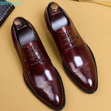 <b>QYFCIOUFU</b> 2019 <b>New</b> Men Dress Shoes <b>Genuine</b> Leather Male ...