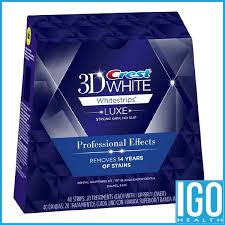 <b>Crest 3d white</b> teeth Whitestrips Professional effect 1 box 20 ...