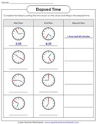 Elapsed Time Worksheets : Math Time WorksheetsElapsed Time Worksheets