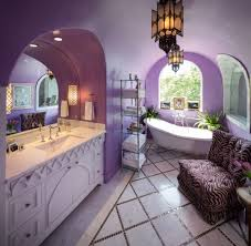 purple morroccan decorated bathroom spa diamond tiles floors better decorating bible blog ideas how to blog spa bathroom