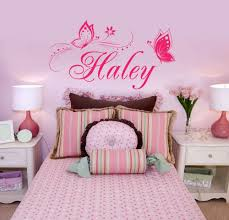 pretty pink color style butterfly wall sticker in the pink wall with curved flower wall bedroom furniture sticker style