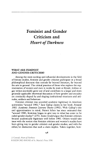 feminist and gender criticism and heart of darkness springer inside