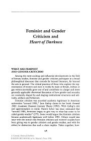 feminist and gender criticism and heart of darkness springer inside