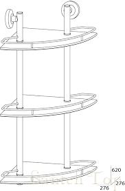 <b>Полочка стеклянная FBS Standard</b> STA 073 угловая 3-х ...