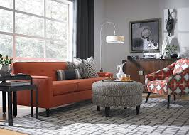 living room contemporary with burnt orange couch burnt image by bassett furniture burnt orange living room furniture