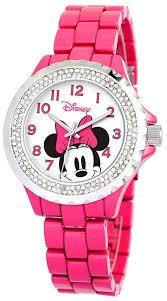 Disney Minnie <b>Mouse</b> Women's Pink <b>Alloy Enamel</b> Spark Watch ...