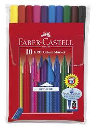<b>Фломастеры GRIP</b>, набор цветов, в футляре,<b>10</b> шт. <b>Faber</b>-<b>Castell</b> ...