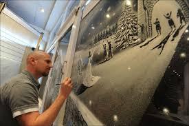 Decorazione Finestre Neve : Artista crea un miracolo di natale sulle finestre ospedale