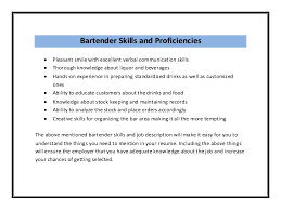 sample resume how to write a bartender resume bartender objective    bartender bartender resume sample pdf