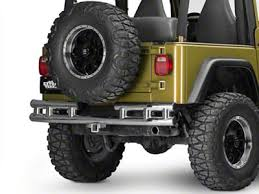 Rugged Ridge Jeep Wrangler 3 in. Tubular <b>Rear Bumper</b> - <b>Stainless</b> ...