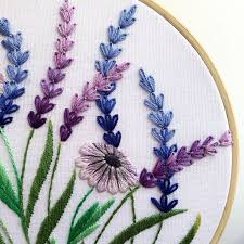 Lavender and White <b>Daisy</b> Hand Embroidery Pattern   Digital ...
