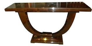 oval dining table art deco: art deco console u shaped base in wood