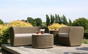 blue grey rattan piece patio furniture