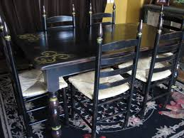 Distressed Dining Room Chairs Dining Chair Elegant Distressed Black Dining Chairs In Inspiration
