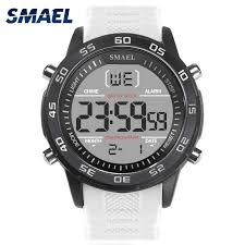<b>SMAEL Digital Wristwatches</b> Men LED Backlight White <b>Electronic</b> ...