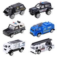 <b>Feichao</b> 1:87 Mini <b>Diecast Alloy</b> Trucks Toys Set 6 Pcs Miltary Fire ...