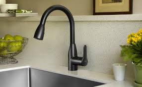 Black Pull Out Kitchen Faucet Appealing Lohler Kitchen Faucets Solid Metal Construction Black