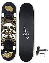 sefulim <b>Skateboard Skull</b> Skateboard for Extreme Sports and ...