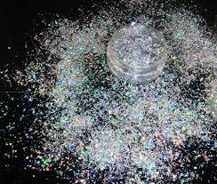 Solvent Resistant <b>Holographic Glitter</b> Irregular Mylar Flakes <b>Laser</b> ...
