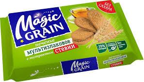 Купить Печенье мультизлаковое <b>MAGIC GRAIN</b> с экстрактом ...