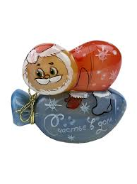 "Сувенир-качалка ""<b>Дед Мороз</b> на мешке"" SELENOK 10295925 в ..."