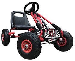 Kiddo Racer Design Red Kids Childrens <b>Pedal Go</b>-<b>Kart</b> Ride-On Car ...