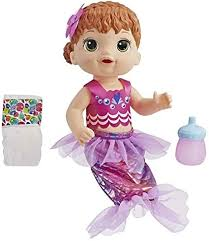 Baby Alive Shimmer N Splash Mermaid Doll with Red ... - Amazon.com