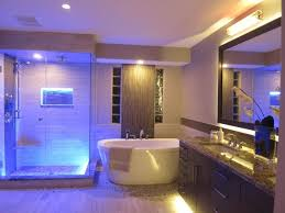 amazing bathroom lighting ideas with luxurious led lamp above the glass shower stall amazing amazing bathroom lighting ideas