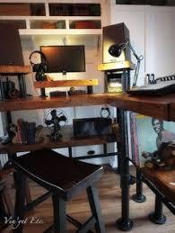 diy how to build industrial style desks final instalment diy how to painted build industrial furniture