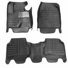 5Pcs Beige <b>PU Leather Universal Car</b> Floor Leather Front Rear ...