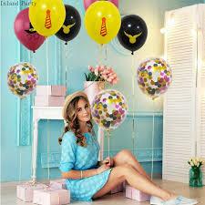 <b>10pcs</b>/<b>lot 12inch</b> Latex <b>Balloons</b> And Colored <b>Confetti</b> Birthday Party ...