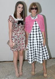family affair anna wintour and her daughter bee shaffer attended yves saint laurent menswear spring anna wintour office google