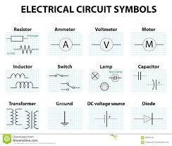 circuit diagram symbol the wiring diagram common circuit diagram symbols stock vector image 68934130 circuit diagram