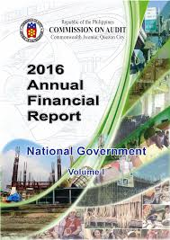 2016 Annual Financial Report for the National Government - Volume I
