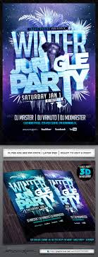 winter jungle party flyer template by industrykidz graphicriver winter jungle party flyer template events flyers