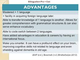 bilingualism advantages essay   essay topicsadvantages of multilingualism essay topics image