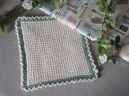 Image result for tunisian crochet dishcloths