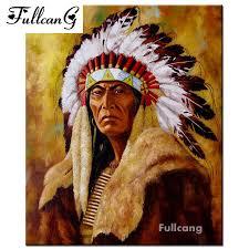 <b>FULLCANG diy</b> 5d <b>diamond painting</b> mosaic american indians full ...
