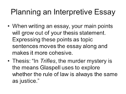 Writing an Interpretive Essay Prepared by Mrs Do According to Ch Planning an Interpretive Essay When