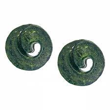 <b>Зеленые пусеты</b>-<b>улитки</b> - купить за 2 700 руб. в Москве