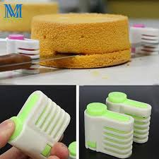 <b>2 Pcs</b>/lot DIY Cake <b>Bread Cutter</b> Leveler Slicer <b>5</b> Layers Cutting Aid ...
