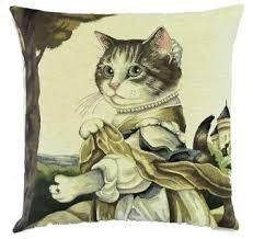 <b>LADY</b> GUINEVERE TAPESTRY <b>CAT</b> CUSHION | Гобелен ...