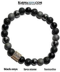 KarmaArm Love Bracelet | Black Onyx | Hematite ... - Amazon.com