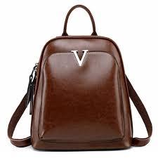 2018 <b>New Women Backpack Genuine</b> Leather Fashion School Bags ...