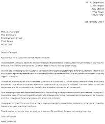 Cover Letter for Customer Service Representative