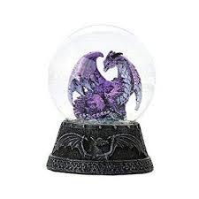 Figurine Fiery Fire Dragon Water Globe W Glitters ... - Amazon.com