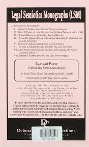 law and power critical and socio legal essays legal semiotics law and power critical and socio legal essays legal semiotics monographs amazon co uk kaarlo tuori jyrki uusitalo zenon bankowski 9780952893806