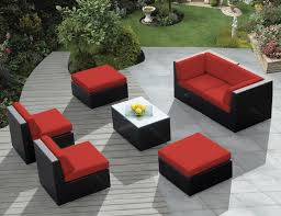 patio furniture sectional ideas: amazing modern outdoor furniture design idea with glass top dining