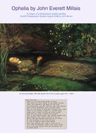 essay on a shakespeare related piece of work ophelia by millais